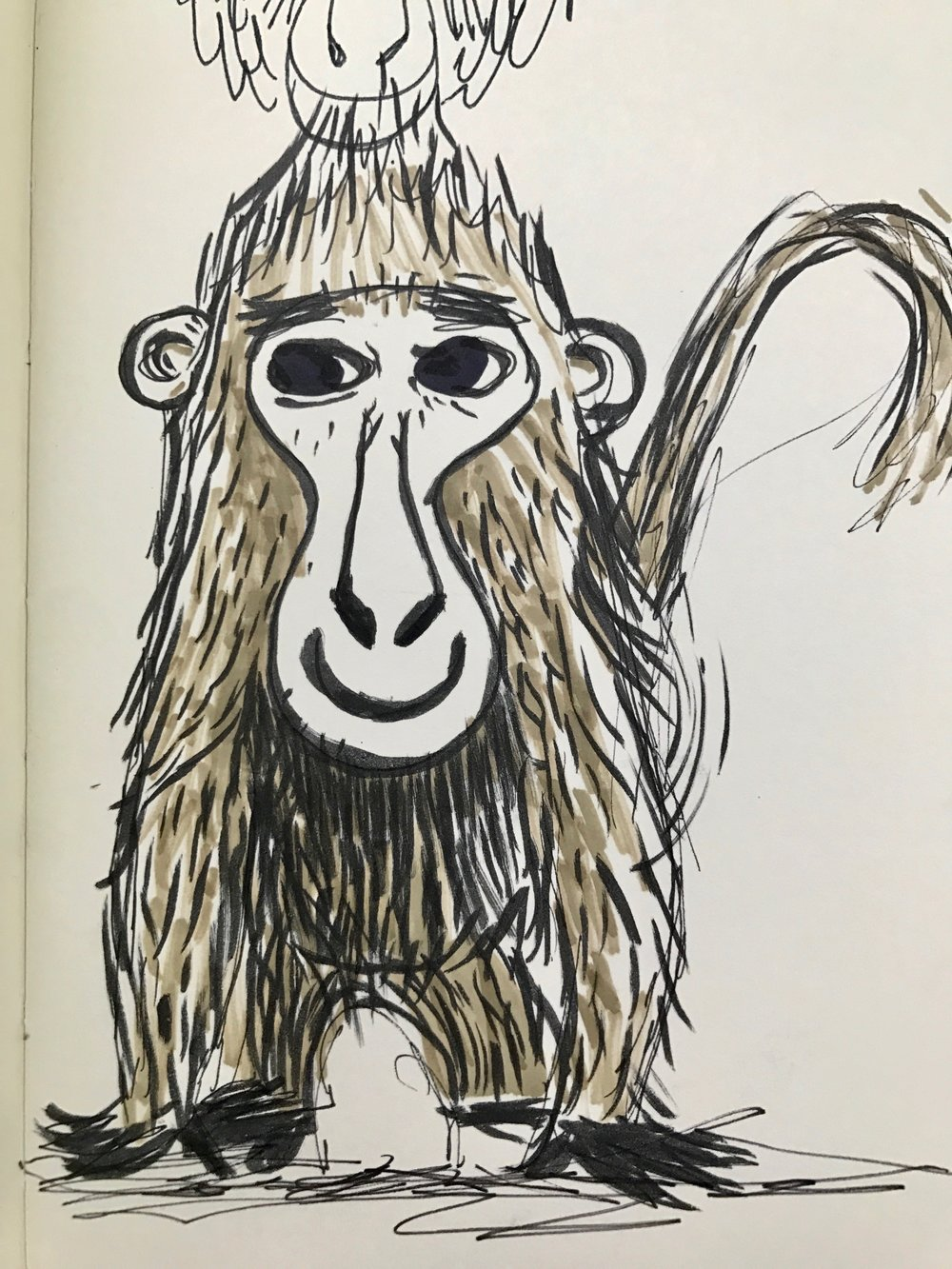 One of the first Monkey development sketches I created in working on this book.