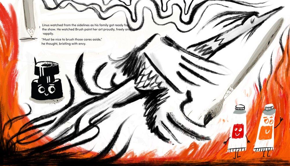 Phoenix brush work sketch