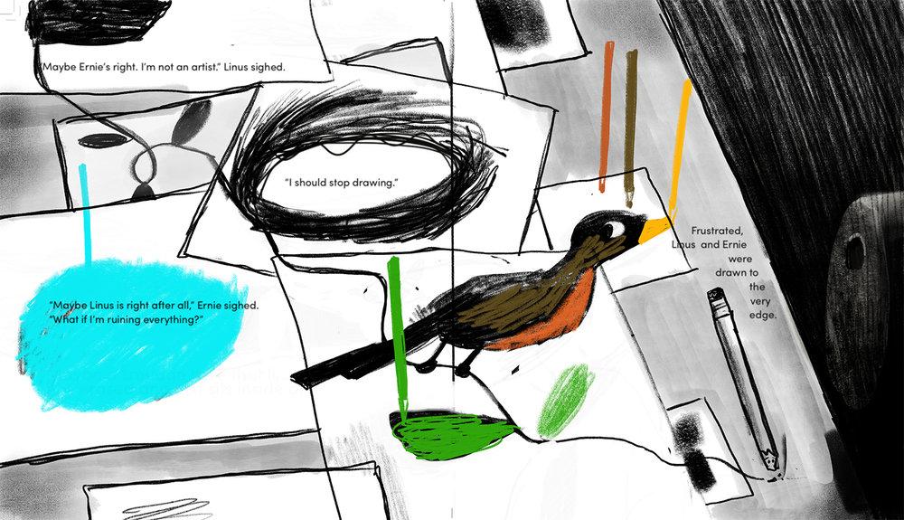 Colored pencils' round robin. :)