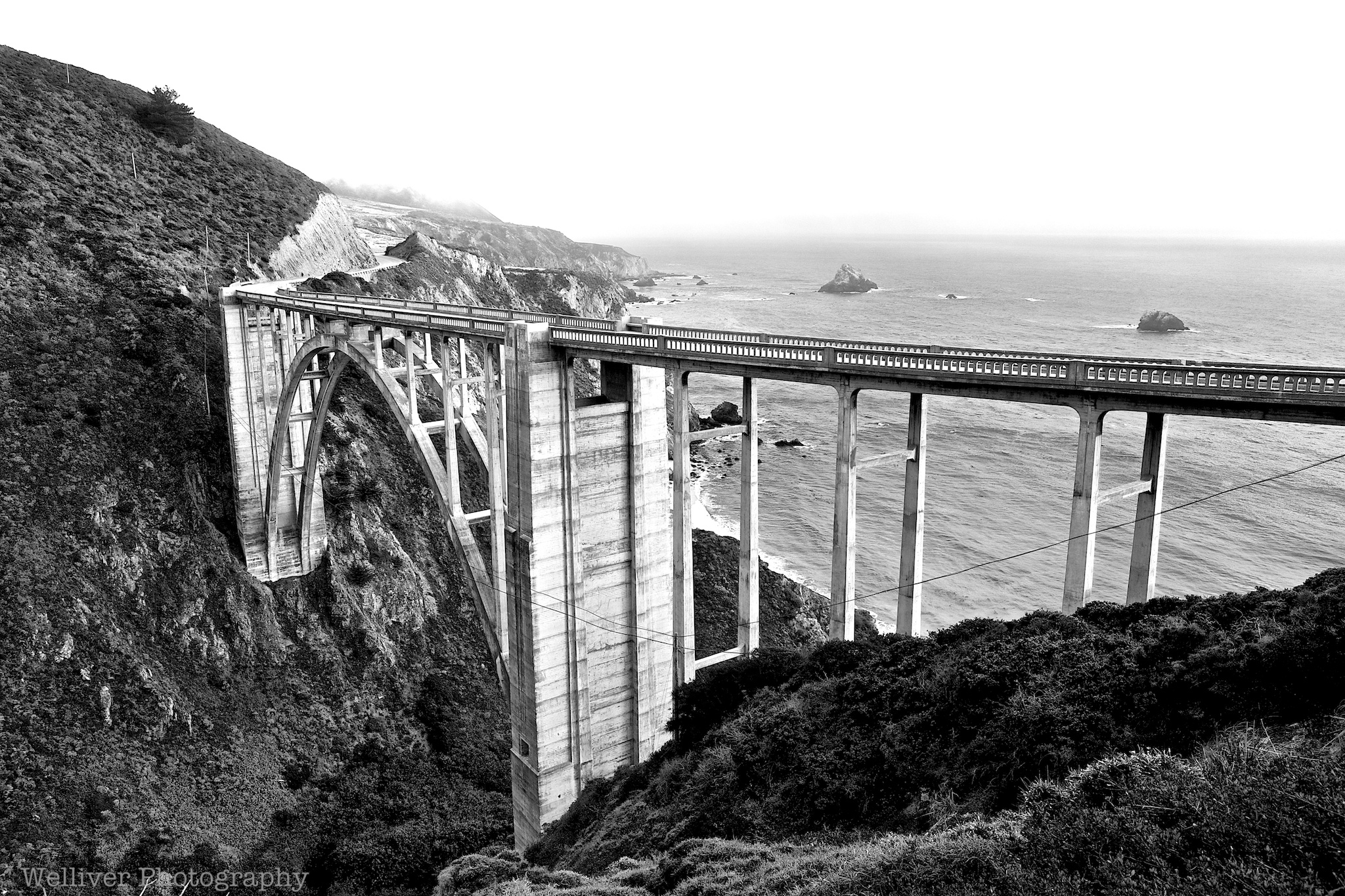 Black & White Bixby Bridge