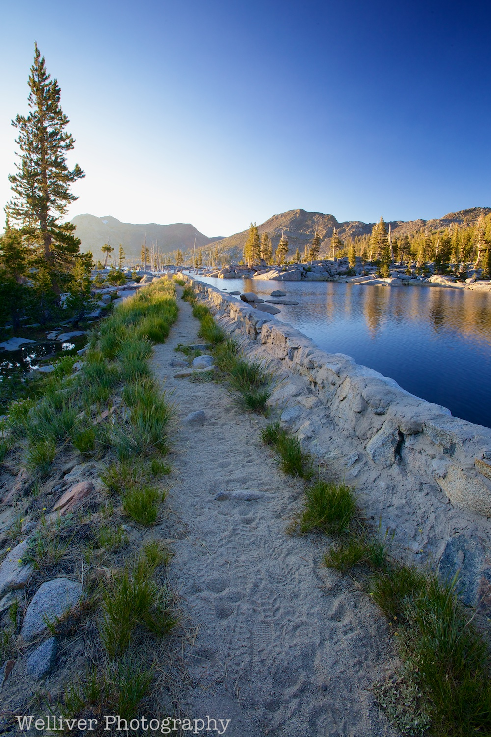 Desolation Wilderness: Trail along Lake Aloha by Beth.