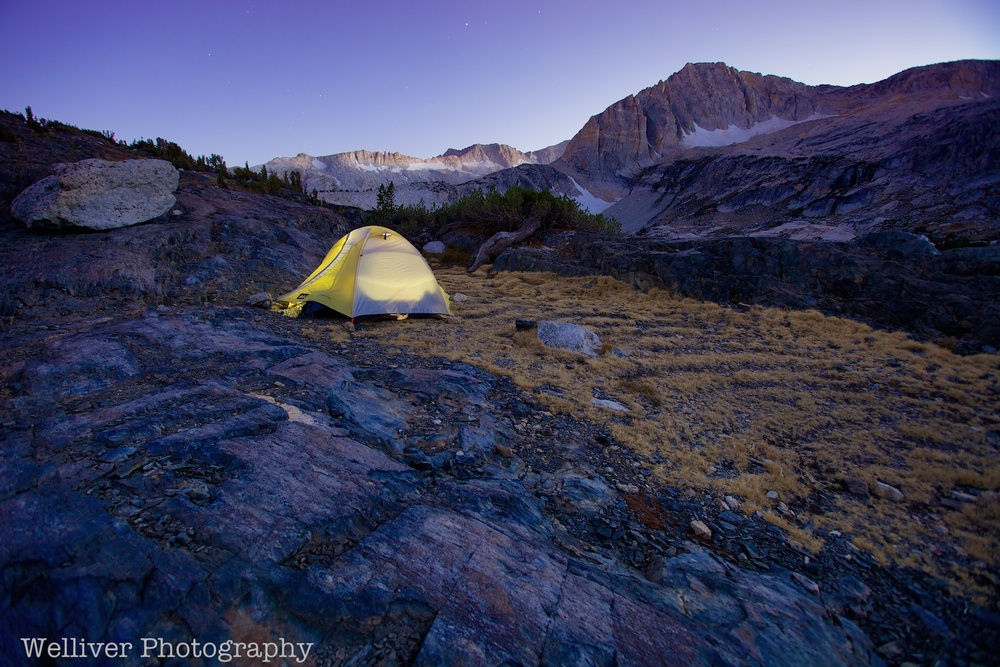 Twenty Lakes Basin, Hoover Wilderness: Campsite by Beth.