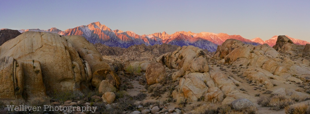 Morning Glow, Alabama Hills, CA. Purchase from our store.