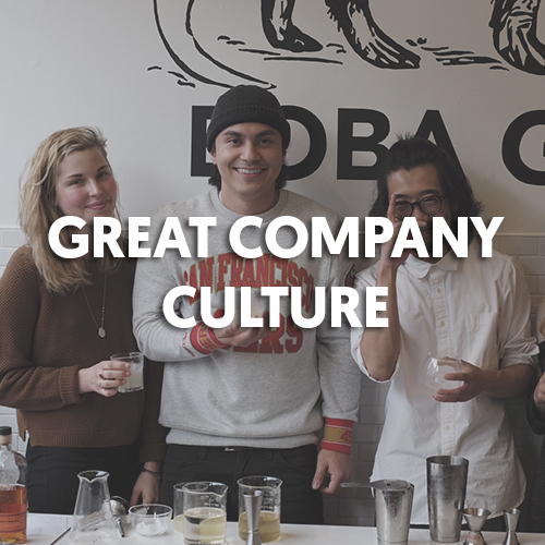 Boba Guys is not your average boba shop. Like many businesses in San Francisco, we were built like a start up. To us, this means we take a lot of pride in the quality of our work, the relationships we build with our customers and especially the ones within our incredible team. We want Boba Guys to be more than just a day job for you! That's why we're big on not just making every shift fun, but taking the time to go on team outings, dinners and fun extracurriculars.
