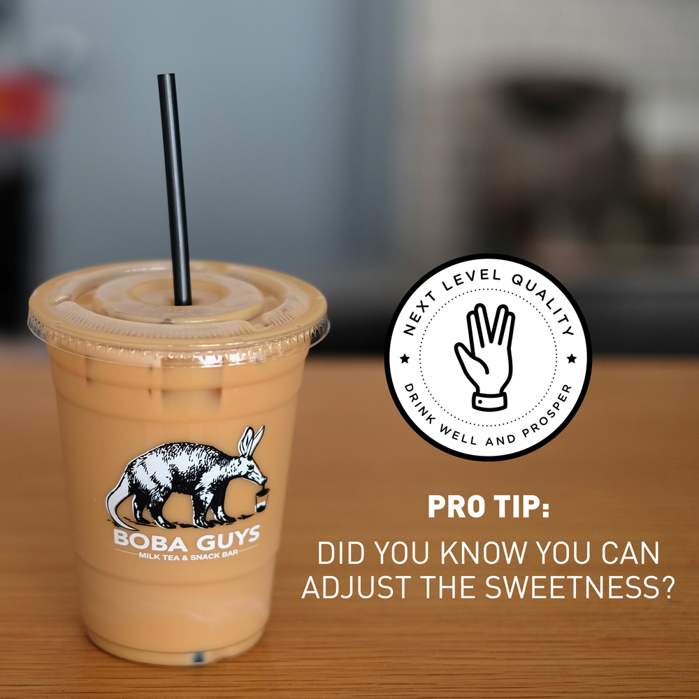 3. We use our own housemade syrups, no fructose. We've crafted the perfect all natural brown sugar based sweetener for all of our milk teas. That means, you can indulge your sweet tooth while remaining fructose free.