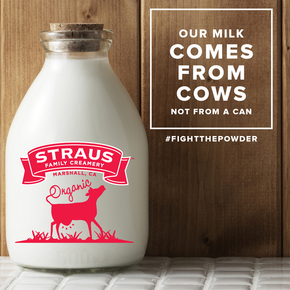 2. We use Straus Family Creamery organic milk, no non-dairy creamers.   Local, organic, rBGH-free; we partnered with Straus because they're the best milk we could find that balanced perfectly with our premium teas. No non dairy creamers; just rich and real dairy, from happy California cows. In our New York, we use milk from Battenkill Valley Creamery!
