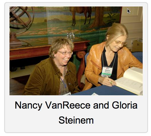 Nancy VanReece and Gloria Steinem in Nashville, TN 2009