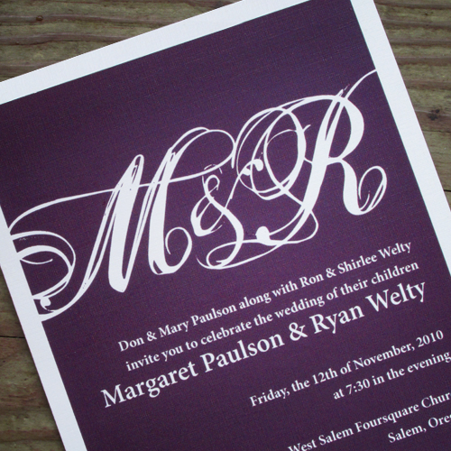 Print : Personal Wedding Invitation