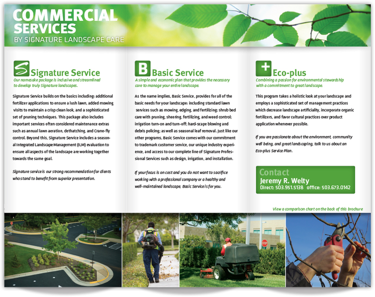 Commercial Services Brochure — WeltyDesign