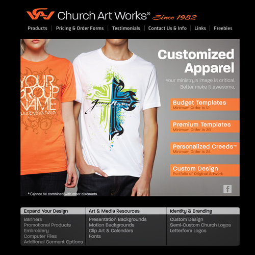 UX/UI : Church Art Works Homepage Refresh