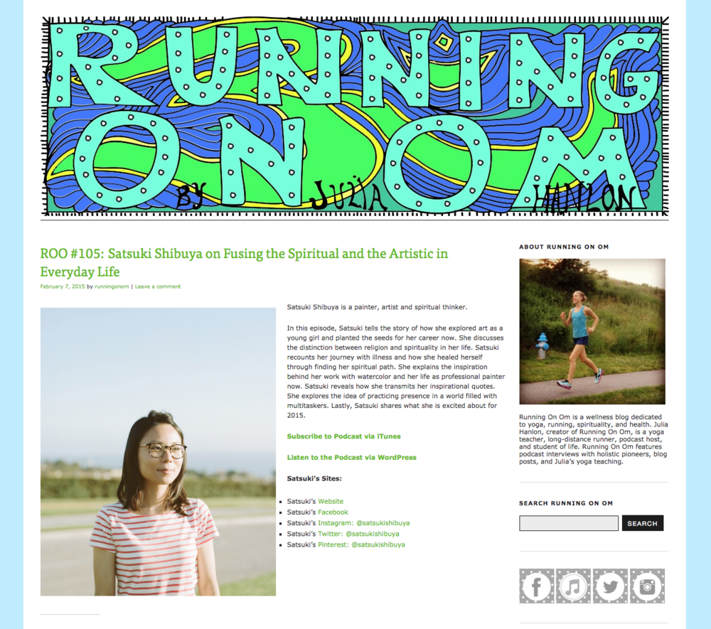 RUNNING ON OM (interview) — satsuki shibuya