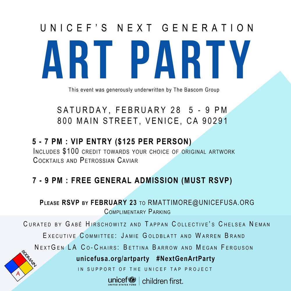 UNICEF NEXT GEN ART PARTY — satsuki shibuya . journal