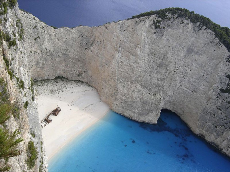 A beach in Zakynthos, Greece