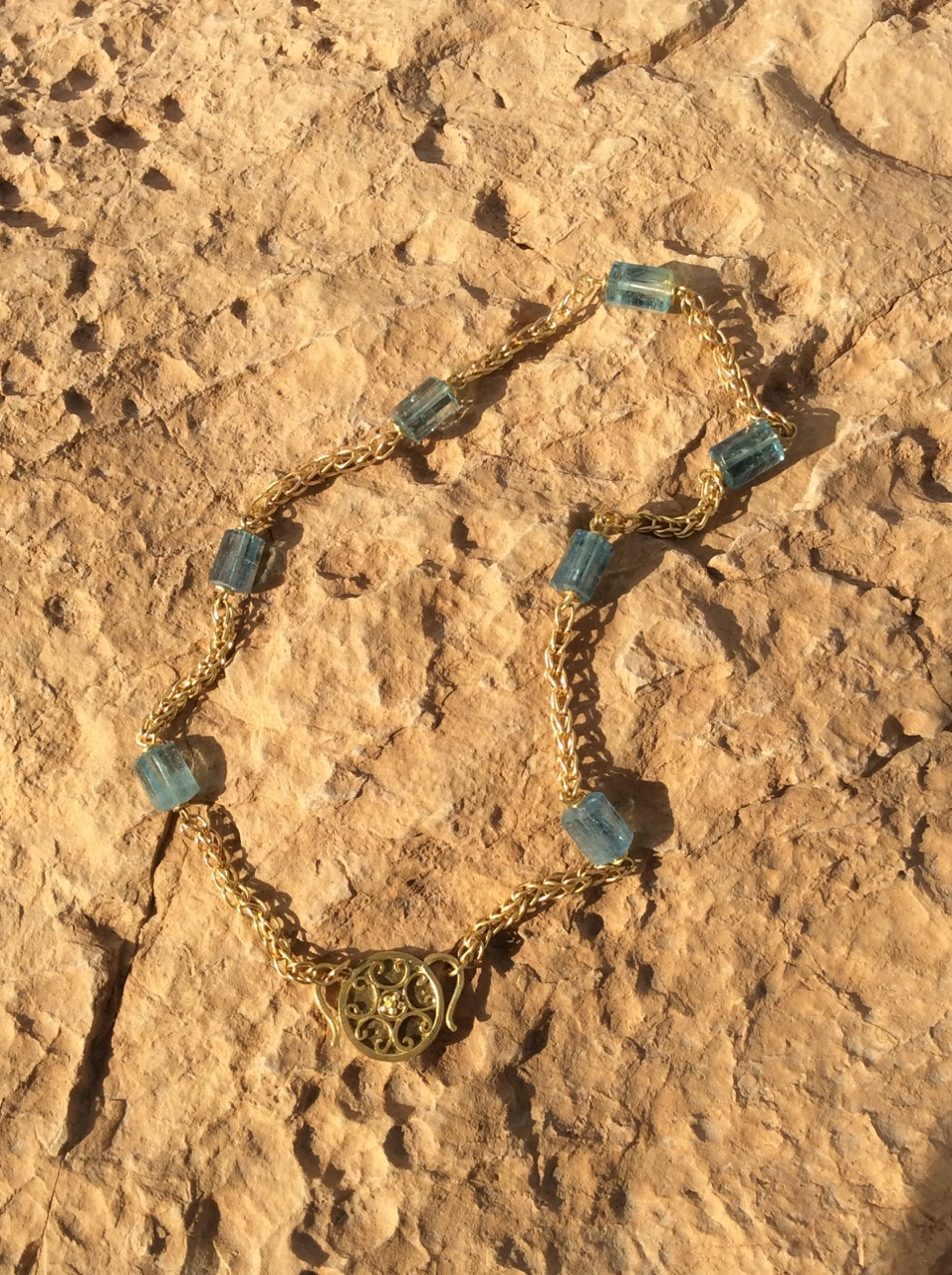 Handcrafted necklace inspired by ancient Rome.  Shot on location at Masada, near the Dead Sea, Israel.  Necklace inquiries:   http://tinyurl.com/hurw4af