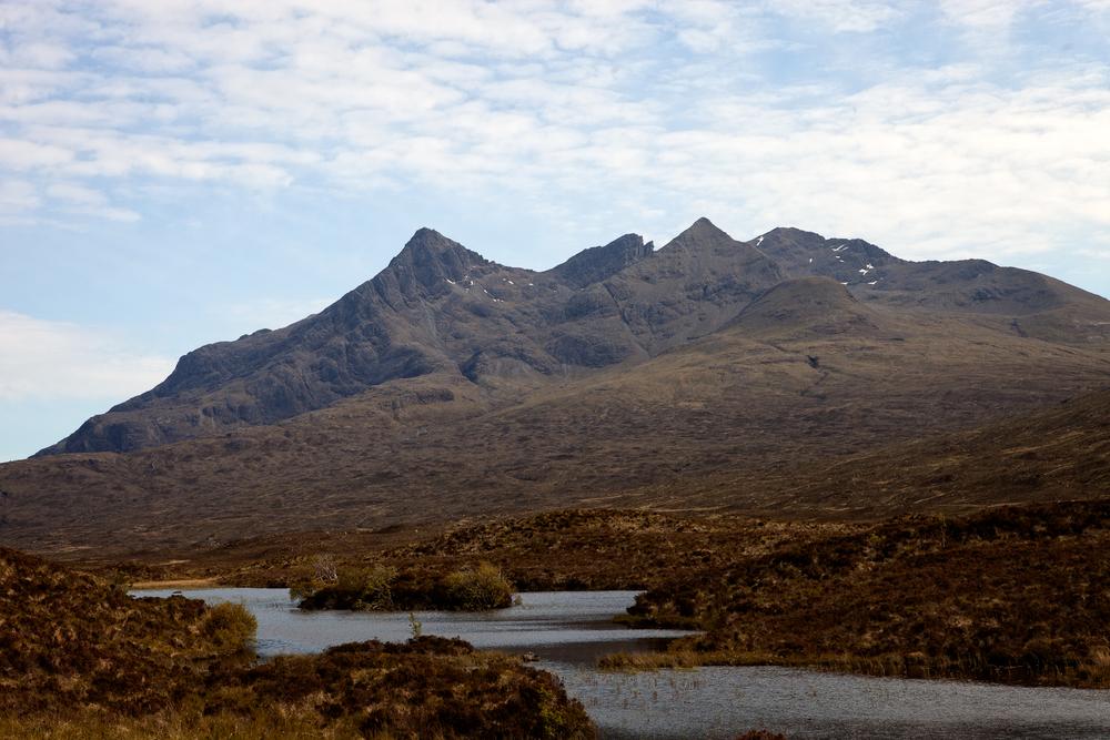 Sgurr nan Gillean and Am Basteir across Loch nan Eilean
