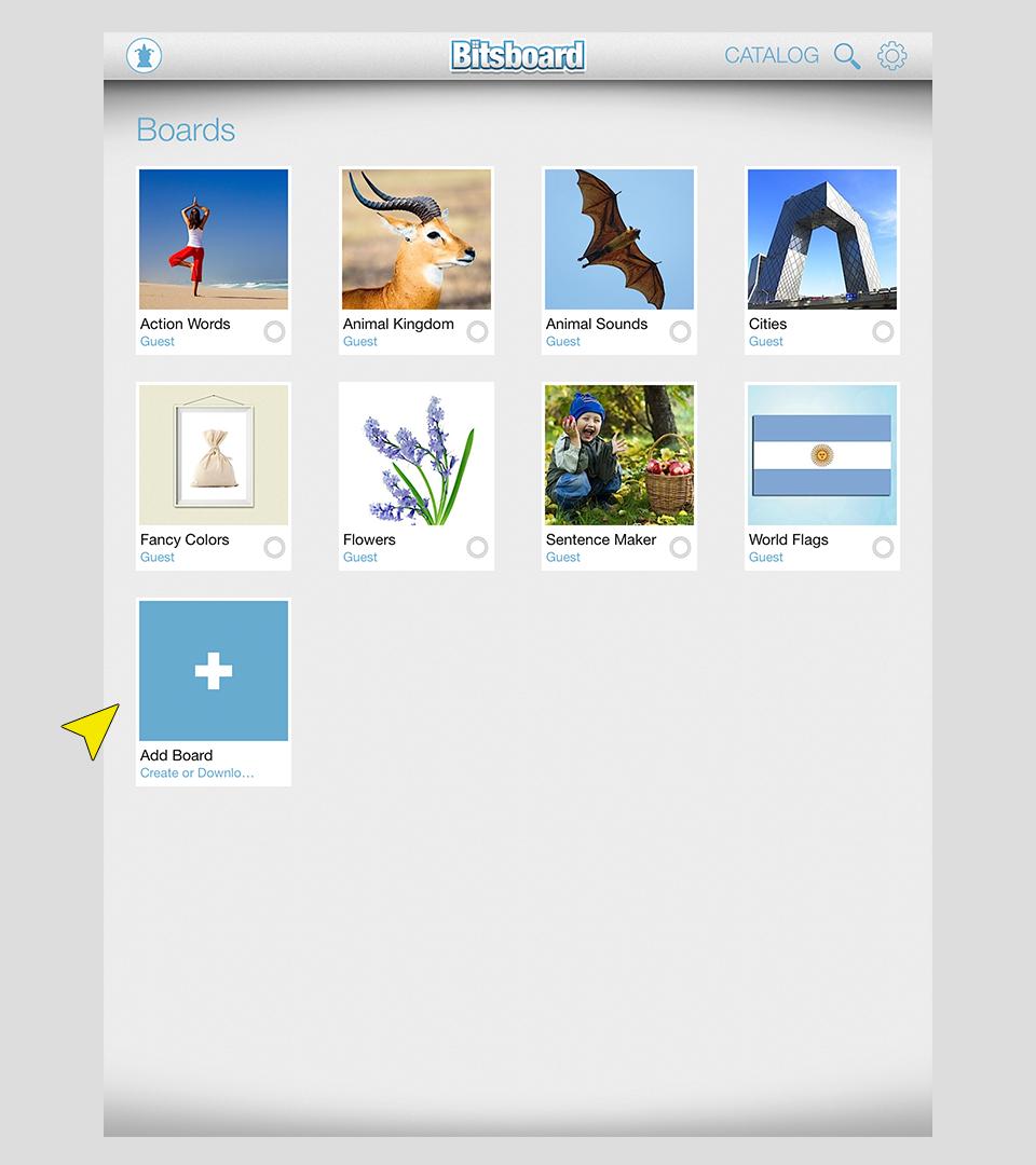 AddBoardsFromHomeScreen