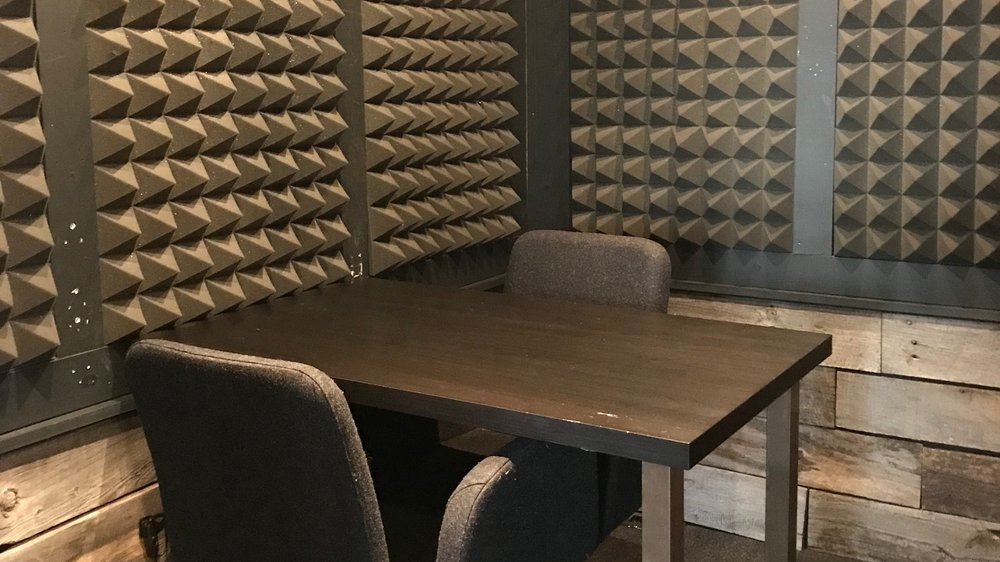 podcast booth -