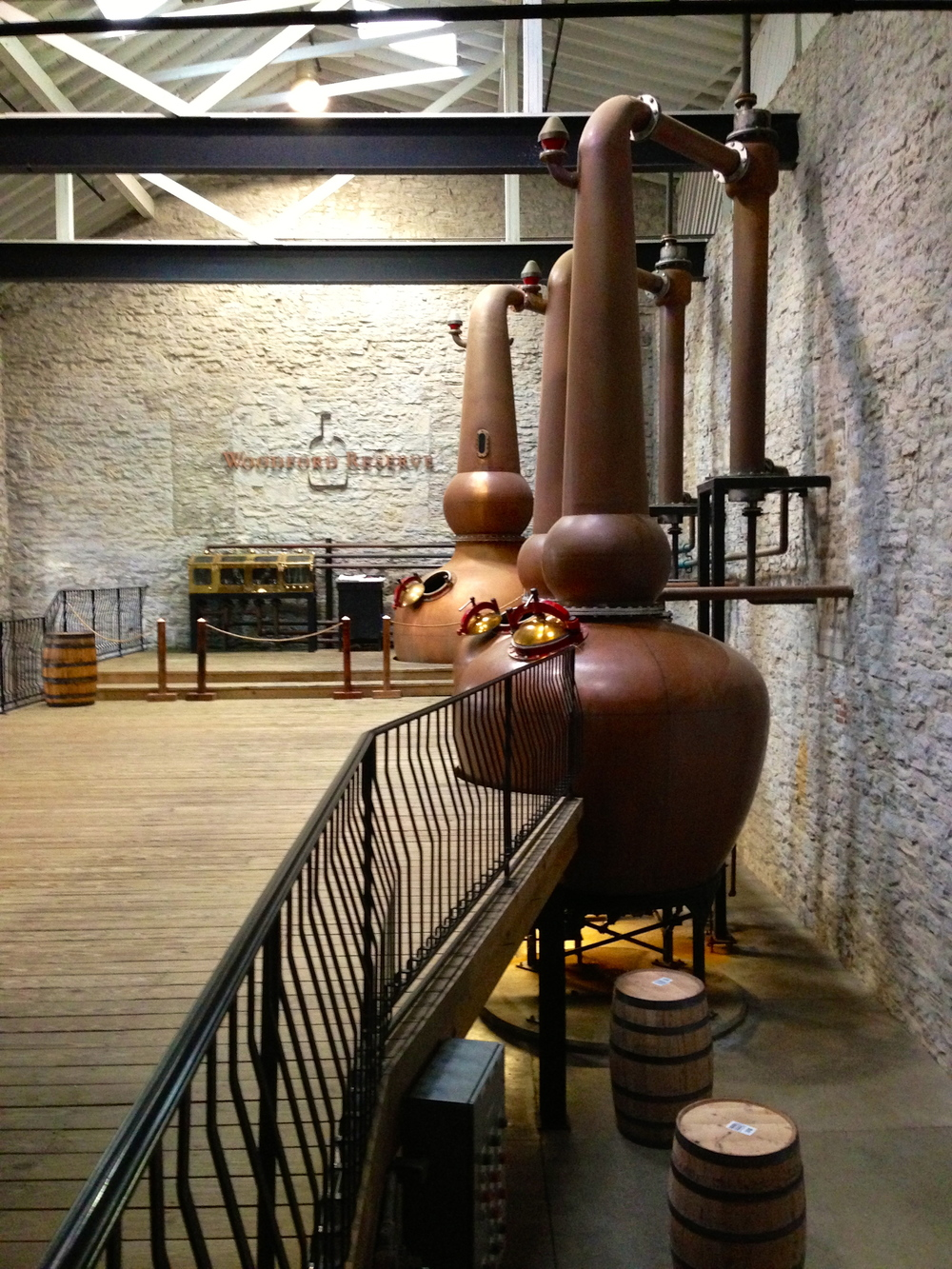 The triple copper stills at  Woodford Reserve .