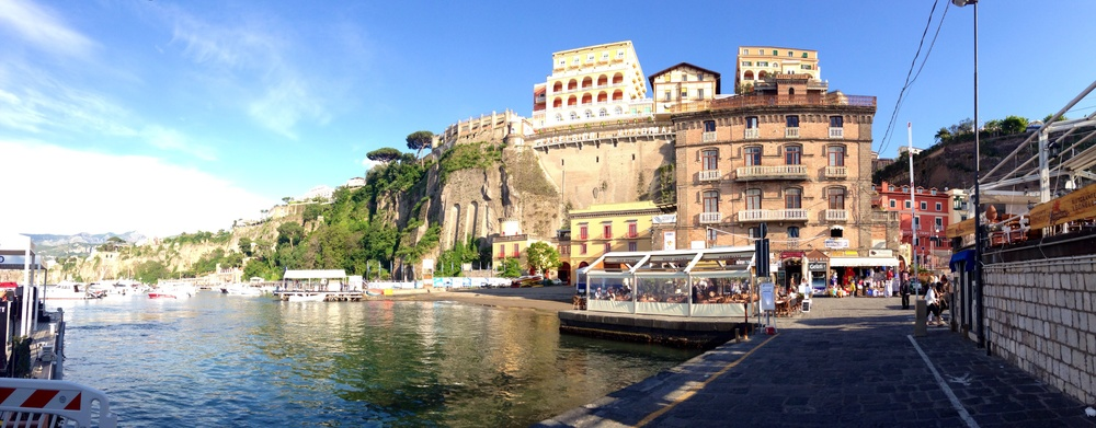 The harbor in Sorrento, Italy.