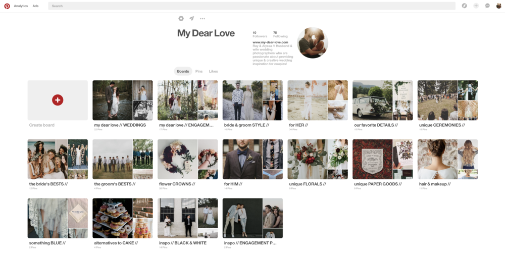Pinterest - We look at weddings and wedding inspiration more than the average person, and we are super passionate about providing unique & creative wedding inspiration for our couples! Check out our page for some incredible inspiration for your day!