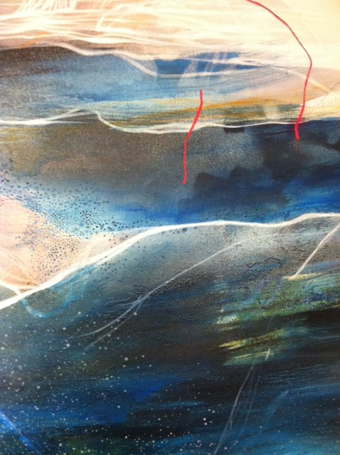 close up of new painting.