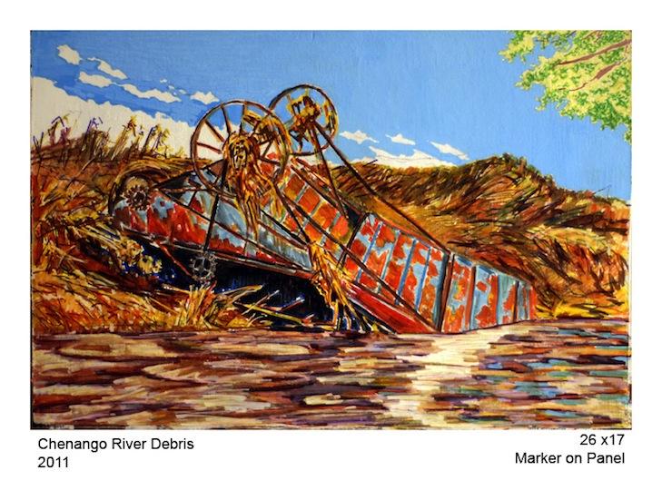 Chenango River Debris
