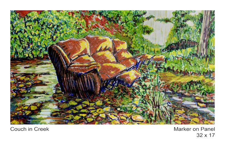 Couch in Creek
