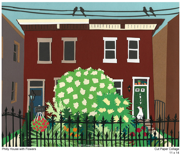 Philly House with Flowers (2017)