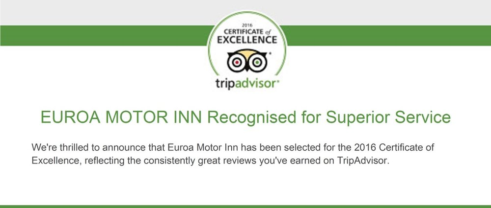 Trip Advisor Winners for                             2015 & 2016