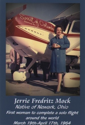 Jerrie Mock, First woman to complete a solo flight around the world