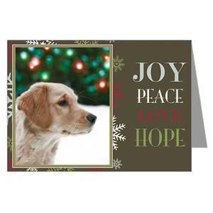 joy peace love hope joy peace love hope white christmas retriever