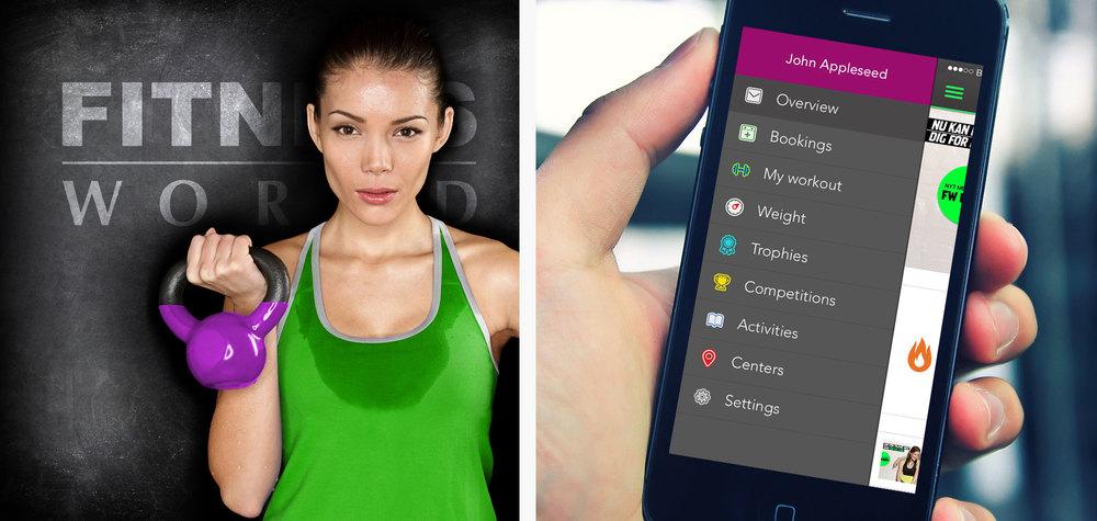 En af landets mest brugte apps, nemlig app'en for Fitness World, er udviklet hos Shape med Nicolas ved det kreative ror.