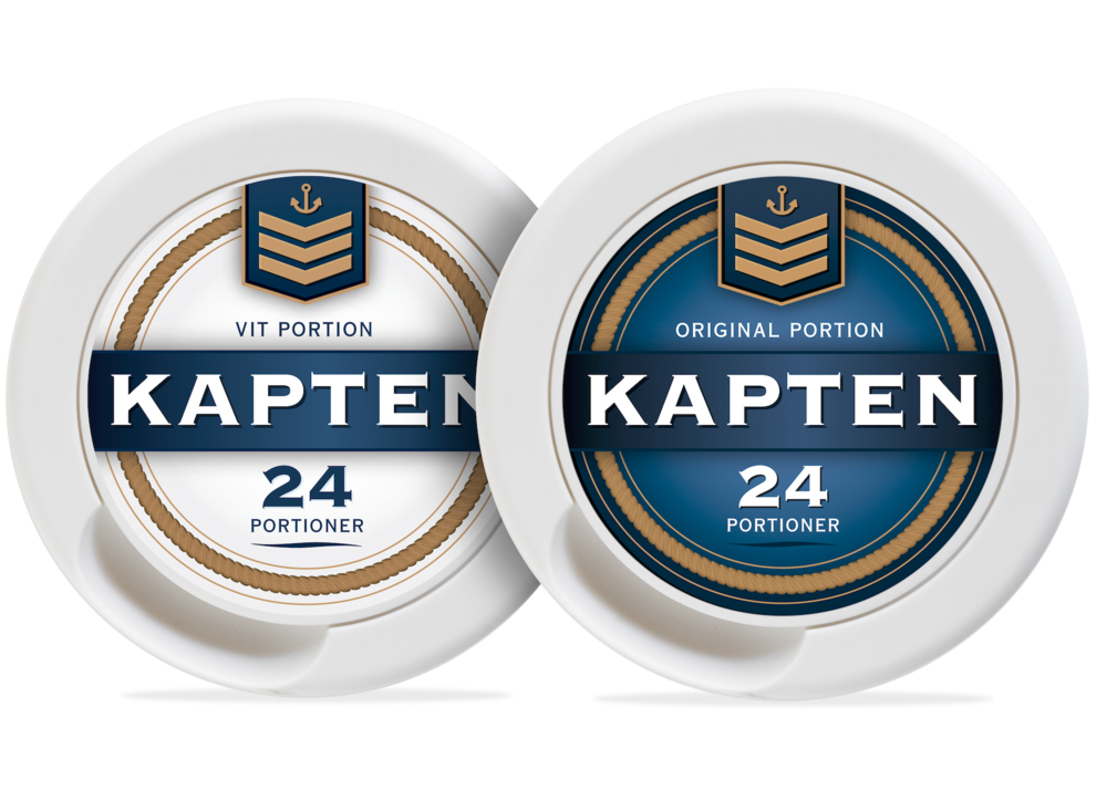 Emballagedesign for Kapten snus. Copyright: Nørgård Mikkelsen