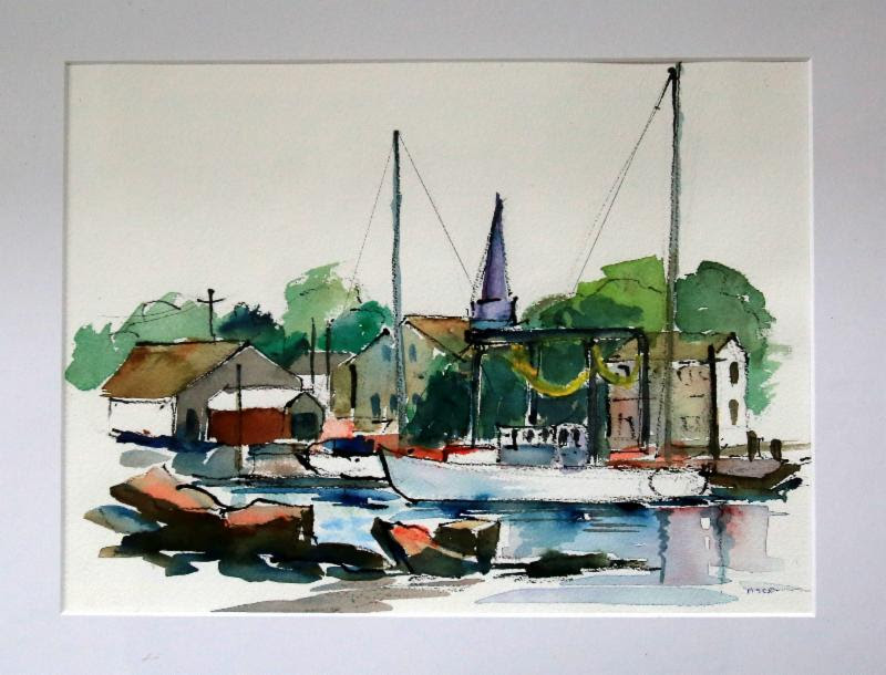 Dodson's Boatyard, Stoninginton, CT by Margaret Doherty