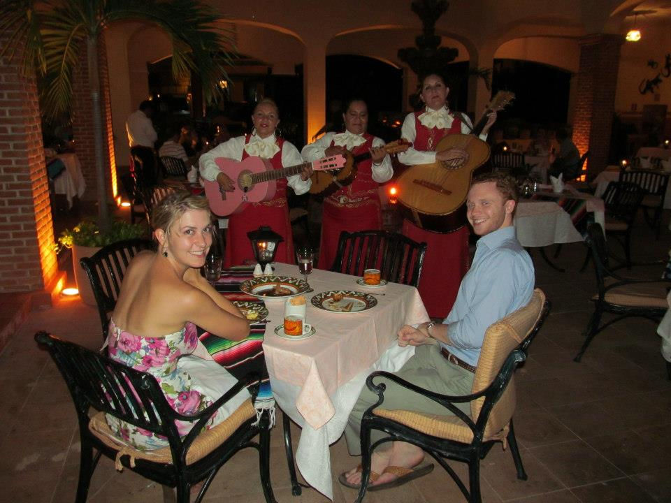 The mariachi band serenaded us through our dinner at the delicioso Mexican restaurant!