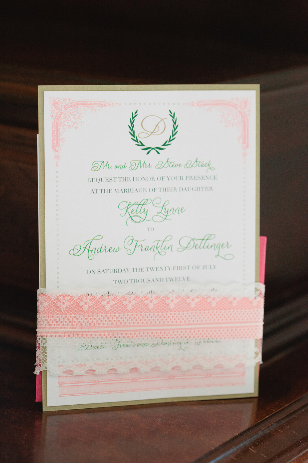 our stunning invitation, designed by  hillary yeager