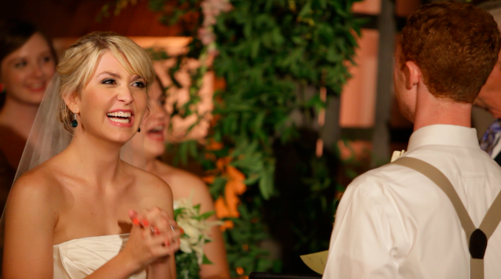 One of the film stills from our wedding video -- love all the emotion caught!