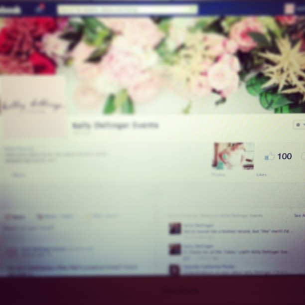 When we first hit 100 likes!