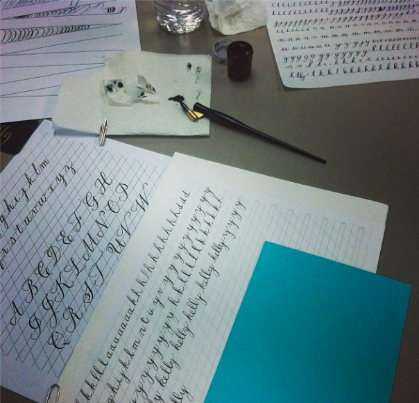 From  EsqueScript' s January calligraphy class!