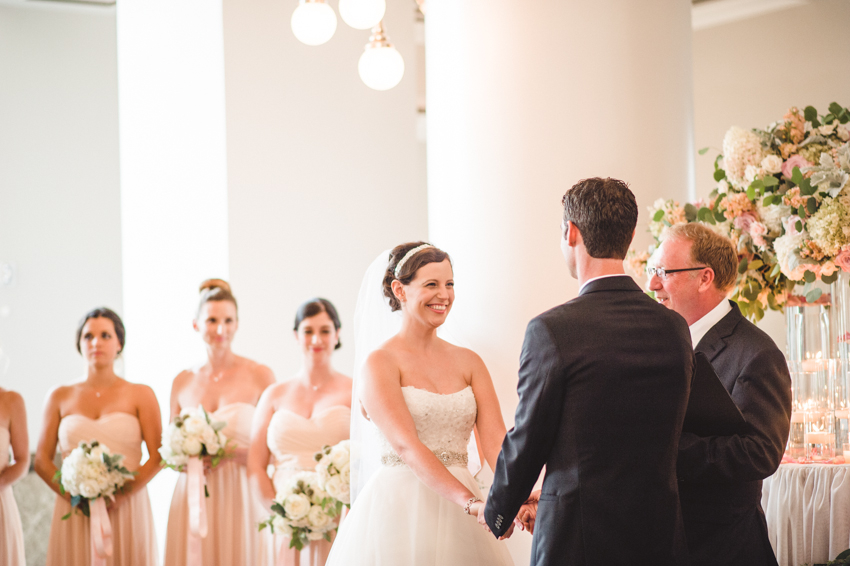 schermerhorn pink wedding ceremony