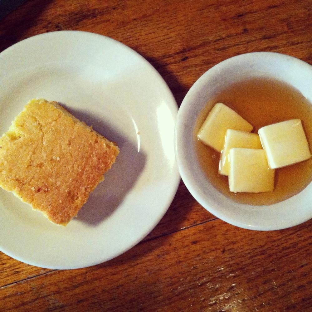 Jestine's honey butter & cornbread:: Charleston staples!