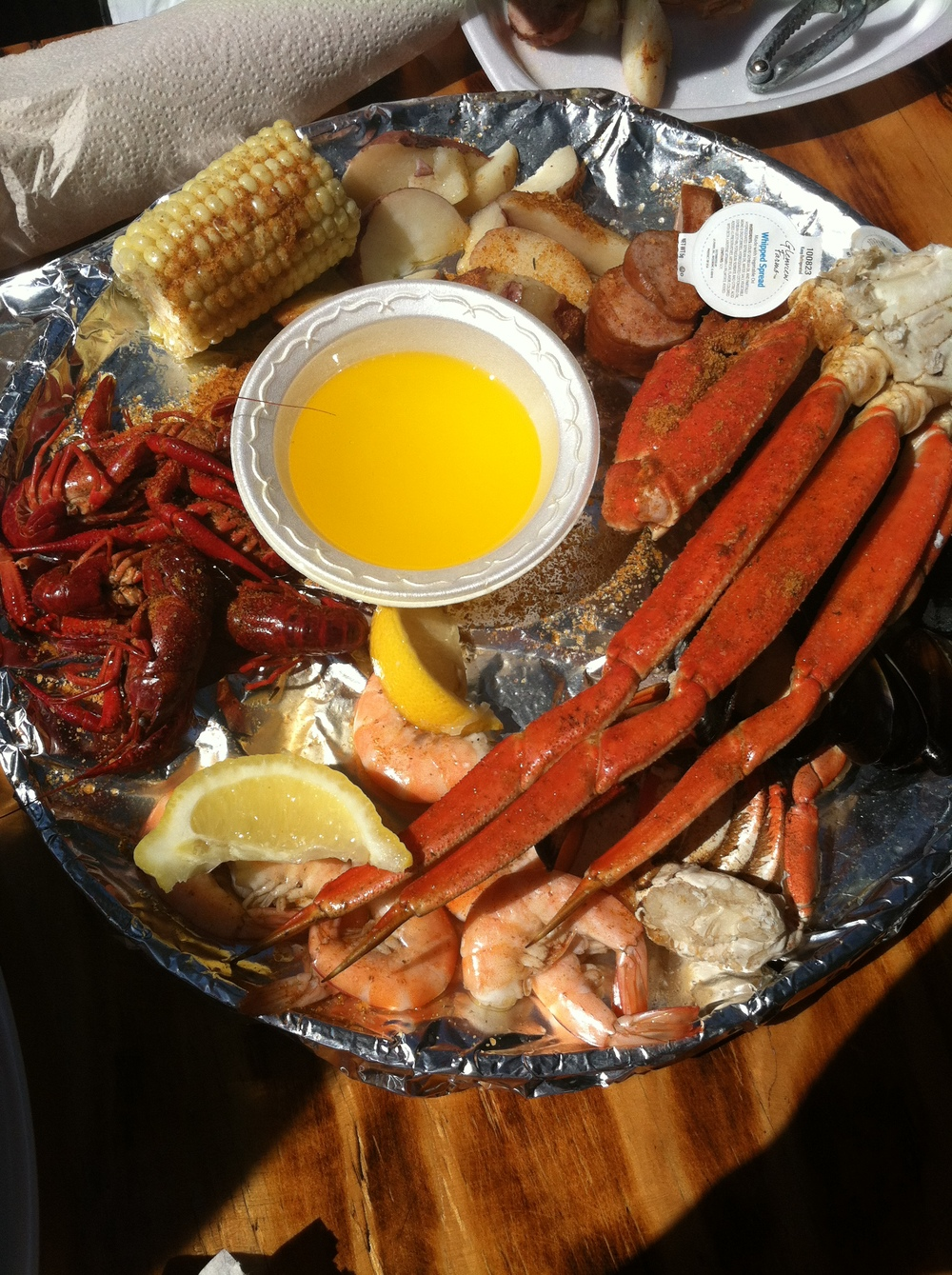 Seafood at The Crab Shack in Tybee Island, GA