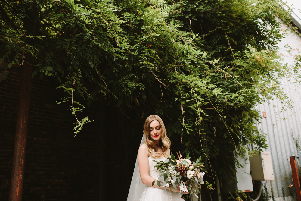 forest wedding bride