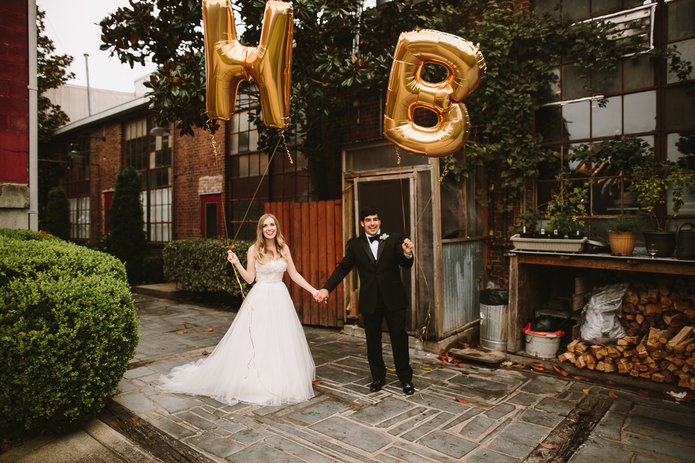 mylar balloons gold wedding