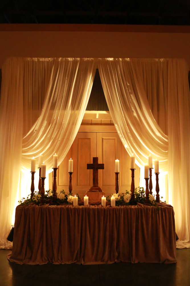 draped ceremony