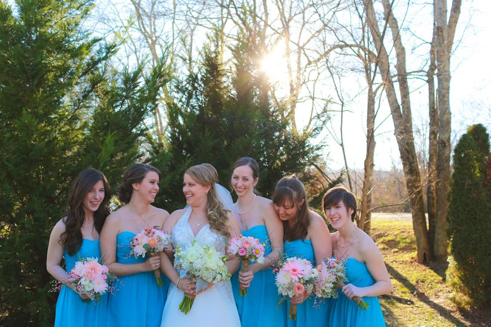 aqua bridal party