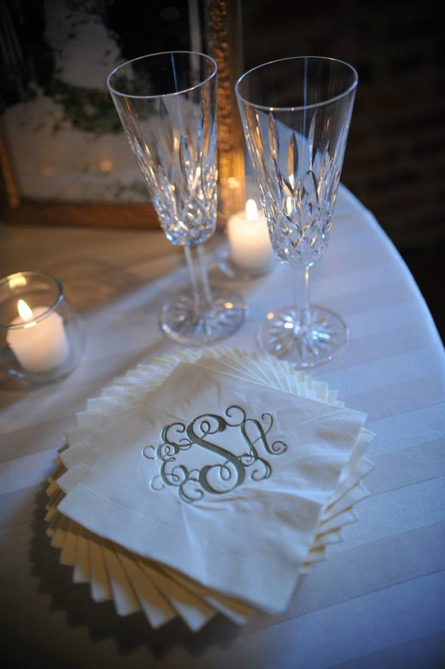 Loved all the monogrammed details Erin interspersed throughout the day!