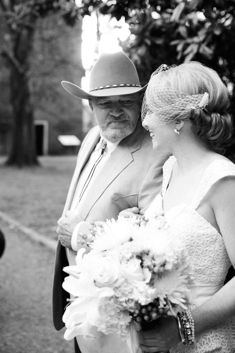 bride and southern father