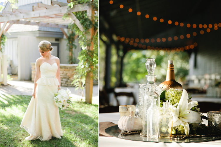 neutral fall wedding glamour