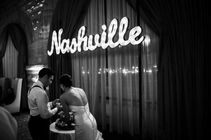 nashville wedding cake cutting kelly dellinger events